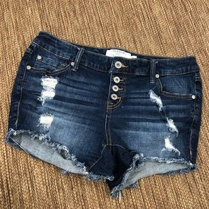 Torrid High Rise Skinny Shorts Vintage Stretch 10